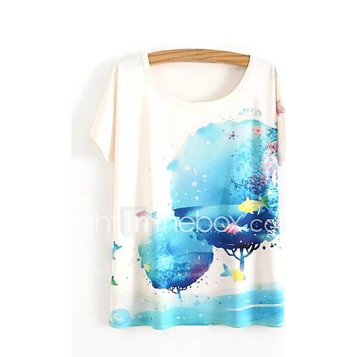 eenvoudig-schattig-lente-zomer-t-shirt-casual-dagelijks-print-ronde-hals-korte-mouw-wit-katoen-ondoorzichtig