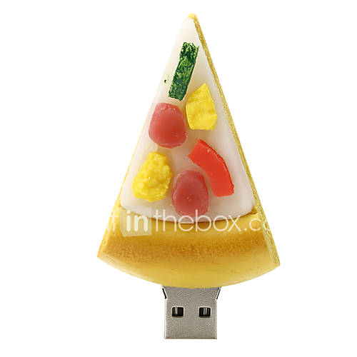 disco flash drive de borracha USB2.0 128GB de pizza