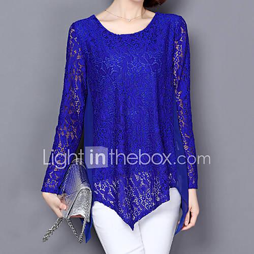 dames-vintage-eenvoudig-chinoiserie-alle-seizoenen-zomer-t-shirt-grote-maten-casual-dagelijks-werk-effen-ronde-hals-lange-mouw-blauw-zwart