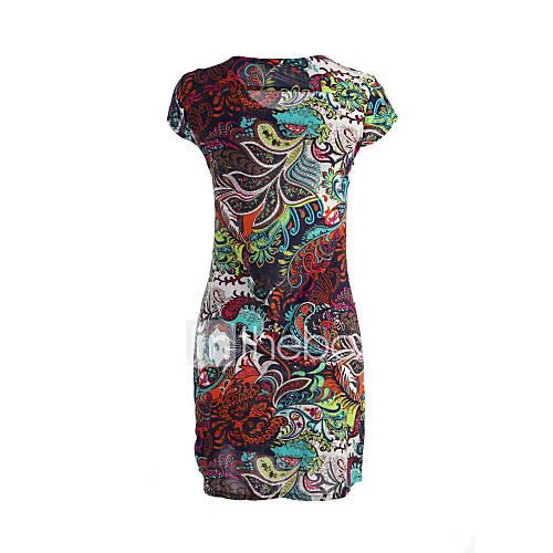 strakke-ronde-hals-ronde-hals-chiffon-polyester-nylon-veer-geplooid-boven-de-knie-vrouwen-jurk-korte-mouw
