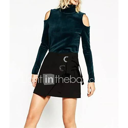 dames-sexy-eenvoudig-street-chic-lente-herfst-t-shirt-uitgaan-casual-dagelijks-effen-strakke-ronde-hals-lange-mouw-blauw-zwart-katoen