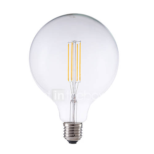 6W E26/E27 Bombillas de Filamento LED G125 4 COB 600 lm Blanco Cálido Regulable Decorativa AC 100-240 V 1 pieza