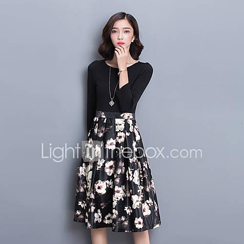vestidos-de-primavera-primavera-2017-novos-modelos-de-moda-feminina-mulheres-coreanas-vestir-longa-secao-saia-selvagem-temperamento-da
