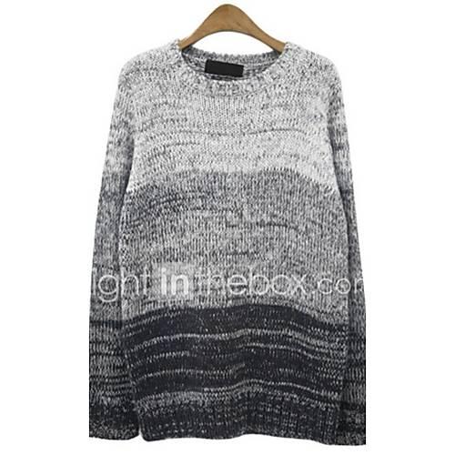 heren-uitgaan-casual-dagelijks-eenvoudig-normaal-pullover-kleurenblok-ronde-hals-lange-mouw-wol-herfst-winter-medium-micro-elastisch