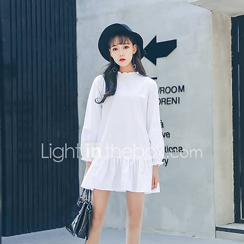 assinar-o-original-coreano-serie-cor-solida-vestido