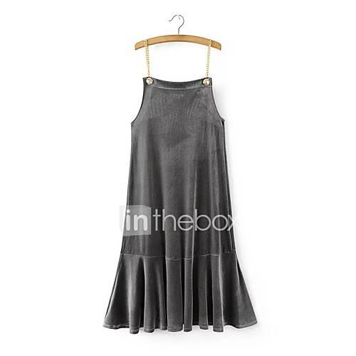 dames-uitgaan-casual-dagelijks-ruimvallend-wijd-uitlopend-jurk-effen-bandje-boven-de-knie-mouwloos-rayon-nylon-lente-zomer-medium-taille