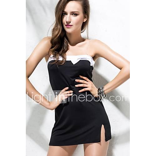 dames-casual-dagelijks-vintage-bodycon-jurk-effen-schouderafhangend-boven-de-knie-mouwloos-overige-alle-seizoenen-medium-taille