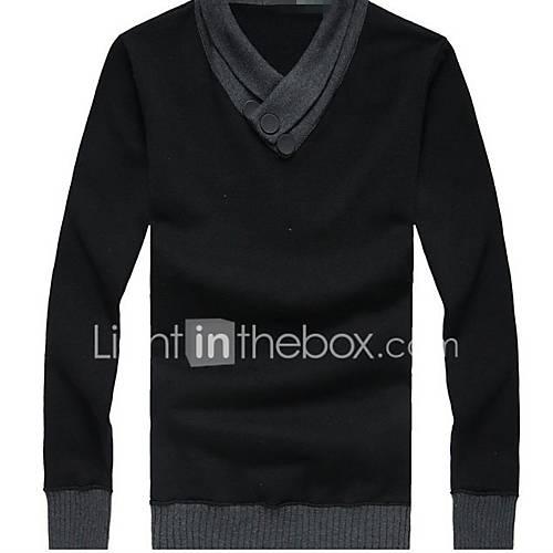 heren-uitgaan-casual-dagelijks-eenvoudig-normaal-pullover-effen-diepe-v-hals-lange-mouw-wol-katoen-overige-herfst-winter-medium