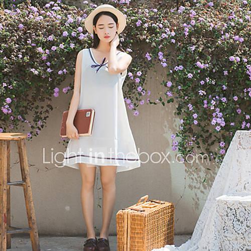 dames-uitgaan-casual-dagelijks-eenvoudig-schattig-a-lijn-jurk-effen-v-hals-boven-de-knie-mouwloos-katoen-zomer-medium-taille