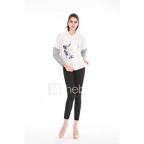 dames-sexy-eenvoudig-street-chic-zomer-herfst-overhemd-uitgaan-casual-dagelijks-kleurenblok-overhemdkraag-lange-mouw-katoen-medium