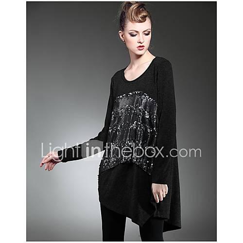 dames-casual-dagelijks-eenvoudig-ruimvallend-jurk-print-ronde-hals-boven-de-knie-lange-mouw-overige-alle-seizoenen-medium-taille