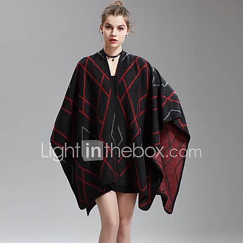 dames-uitgaan-casual-dagelijks-vakantie-sexy-normaal-vest-gestreept-patchwork-v-hals-halflange-mouw-katoen-polyester-herfst-medium-rekbaar