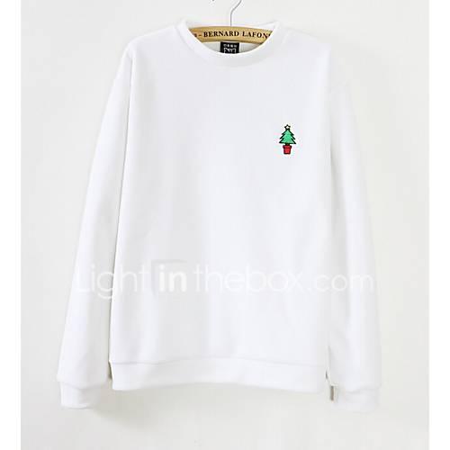 dames-eenvoudig-casual-dagelijks-sweatshirt-effen-ronde-hals-micro-elastisch-polyester-lange-mouw-lente-winter