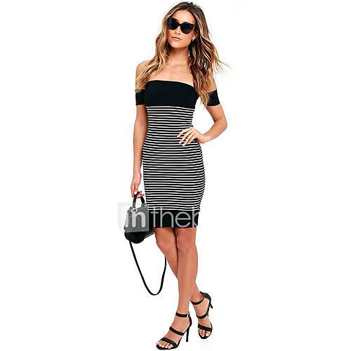 dames-casual-dagelijks-verfijnd-bodycon-jurk-gestreept-boothals-mini-mouwloos-overige-zomer-medium-taille-micro-elastisch-medium