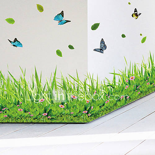 Wall Stickers Wall Decals Style Butterfly Flowers PVC Wall Stickers