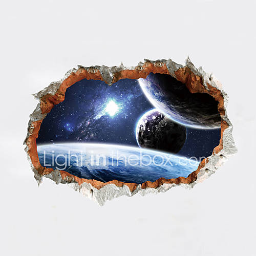 Wall Stickers Wall Decals Style Cosmic Planet PVC Wall Stickers