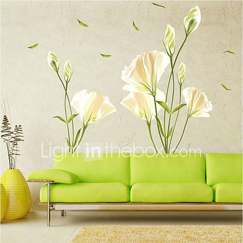 Wall Stickers Wall Decals Style Lily PVC Wall Stickers
