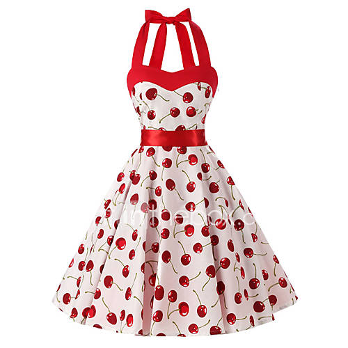 dames-casual-dagelijks-vintage-a-lijn-jurk-bloemen-halter-tot-de-knie-mouwloos-katoen-alle-seizoenen-medium-taille-inelastisch-medium