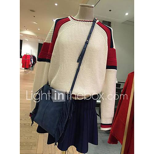 dames-casual-dagelijks-eenvoudig-normaal-pullover-kleurenblok-ronde-hals-lange-mouw-polyester-lente-medium-micro-elastisch