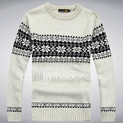 heren-casual-dagelijks-eenvoudig-actief-normaal-pullover-gestreept-patchwork-ronde-hals-lange-mouw-katoen-herfst-medium-micro-elastisch