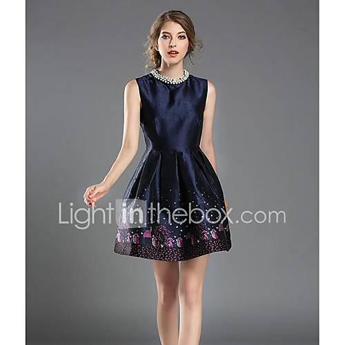 dames-uitgaan-casual-dagelijks-schede-jurk-bloemen-print-ronde-hals-boven-de-knie-mouwloos-rayon-polyester-lente-zomer-medium-taille