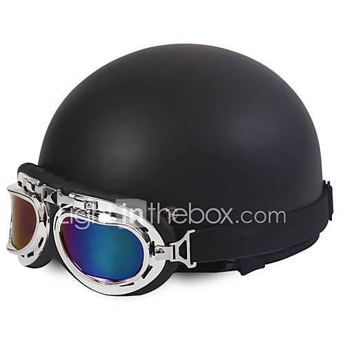 Half Face Motorcycle Helmet Harley Style Flexible ABS Street Motorcycle Helmet Matte Black Color