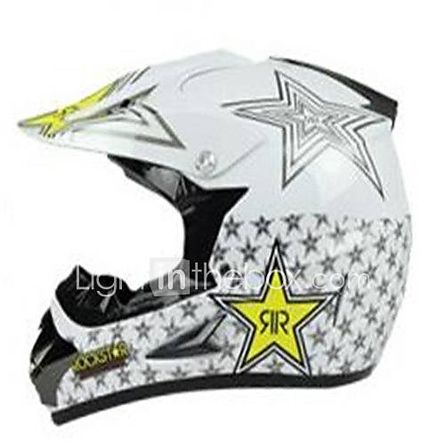 Off-Road Motorcycle Racing Helmet with Golden Star Pattern Full Face Damping Durable Motorsport Helmet