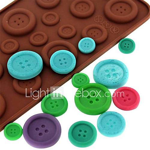 1Pcs  Button Shape Chocolate Moulds Cake Cookie Mold Silicone Chocolate Mold DIY Fondant Moldes