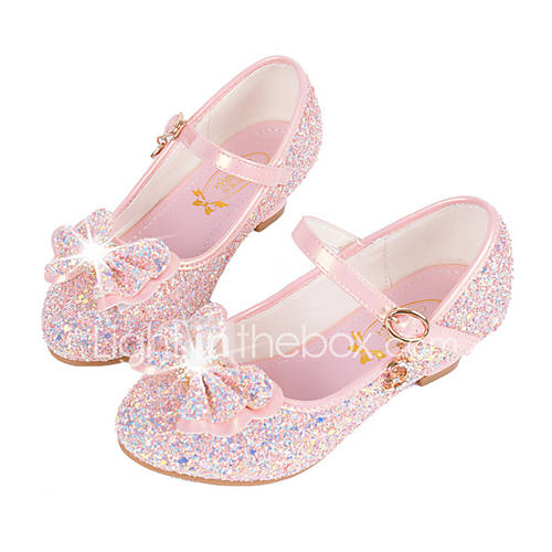 Girls' Shoes Synthetic Microfiber PU Fall / Winter Comfort / Novelty / Flower Girl Shoes Flats Sequin / Buckle for White / Blue / Pink