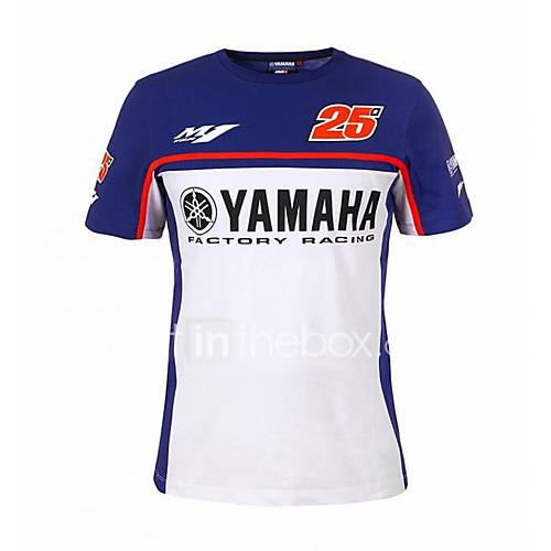 Motorcycle T-Shirt Quick-Drying Ride Short-Sleeved Cotton Casual T-Shirt No. 25 Driver Villa Fan Shirt