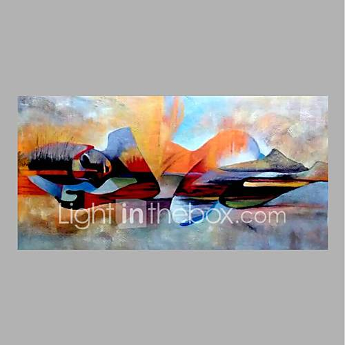 Hand-Painted Abstract Horizontal Abstract Canvas Oil Painting Home Decoration One Panel