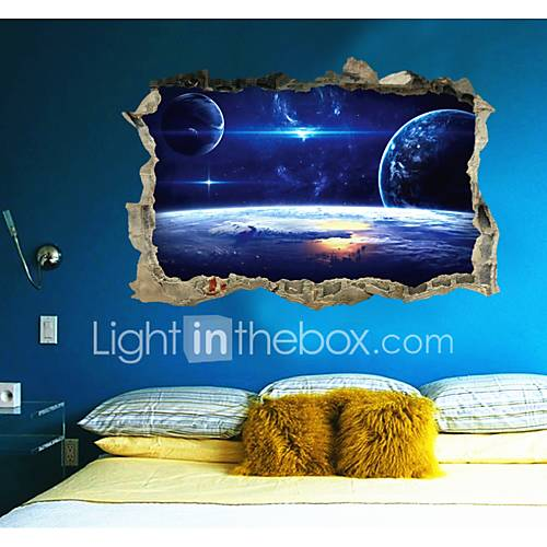Decorative Wall Stickers - 3D Wall Stickers Abstract / Fantasy / 3D Living Room / Bedroom / Study Room / Office