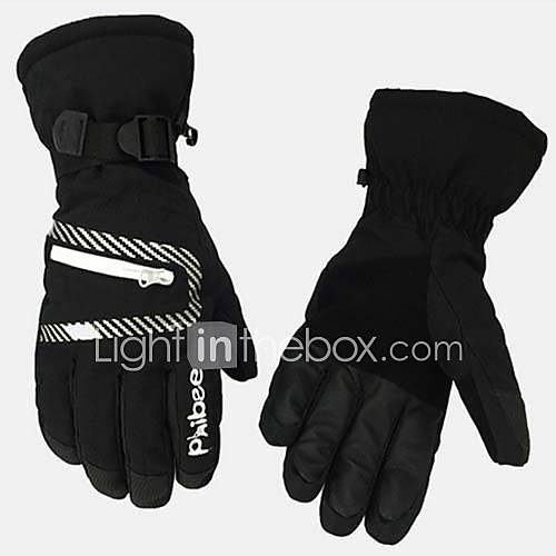 Winter Gloves Ski Gloves Men's Women's Full-finger Gloves Keep Warm Waterproof Skiing Winter Sports Nylon Ski  Snowboard Winter