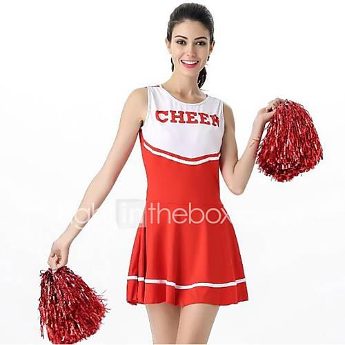 Cheerleader Costume Cosplay Costume Women's Carnival Festival / Holiday Halloween Costumes Black Pink Red Color Block
