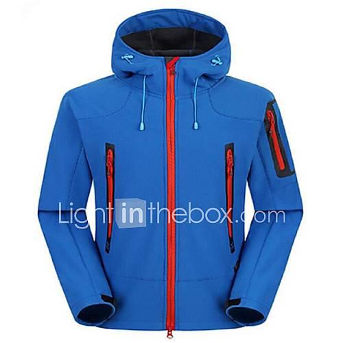 Men's Hiking Softshell Jacket Outdoor Winter Anti-Wear Waterproof Thermal / Warm Windproof Insulated Comfortable Removable Fleece Jacket