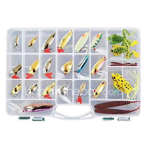138 pcs Hard Bait Soft Bait Flies Lure kits Fishing Lures Metal Bait Lure Packs Vibration/VIB Popper Pencil Crank Minnow Flies Jerkbaits