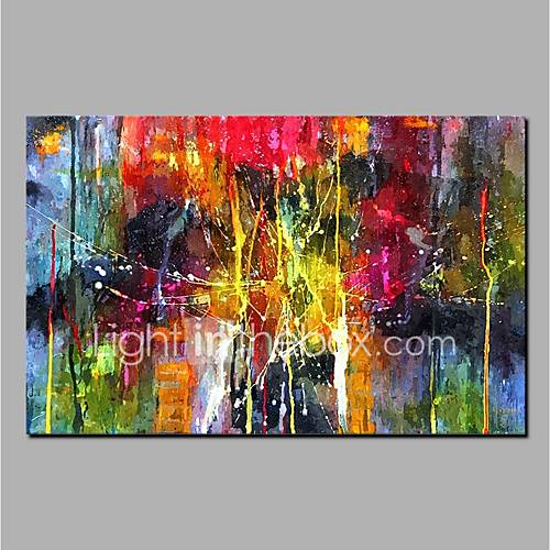 Hand-Painted Abstract Horizontal Modern Canvas Oil Painting Home Decoration One Panel