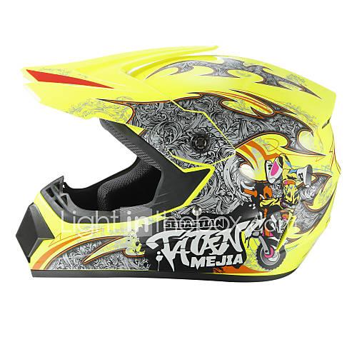 Off-Road Motorcycle Racing Helmet Capital P Pattern Full Face Speed Racing Durable Motorsport Helmet