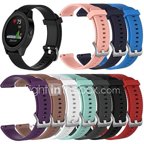 Watch Band for Vivomove HR / Vivomove / Vivoactive 3 Garmin Sport Band Silicone Wrist Strap