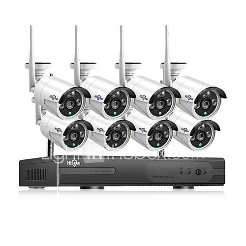 Hiseeu 1080P Wireless CCTV System HDD 2MP 8CH Powerful NVR IP IR-CUT CCTV Camera IP Security System Surveillance Kits Day and Night Remote Viewing