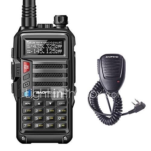 BAOFENG BF-UVS9 Handheld Low Battery Warning / PC Software Programmable / Voice Prompt 5KM-10KM 5KM-10KM 3800 mAh 8 W Walkie Talkie Two Way Radio