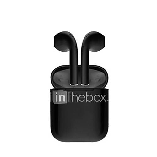 LITBest Glossy Blackpods Redpods Bluepods i12 TWS Bluetooth Earphone Wireless Earbuds Touch Control Earbuds 3D Surround Sound Charging Case for iPhone Android Phone
