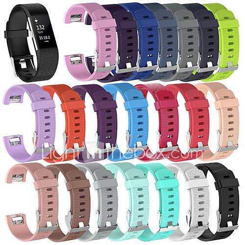 Watch Band for Fitbit Charge 2 Fitbit Sport Band / Classic Buckle Silicone Wrist Strap