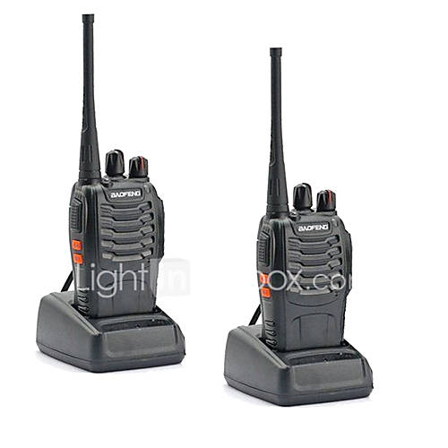2PCS Walkie Talkie Baofeng BF-888S 16CH UHF 400-470MHz Baofeng 888S Ham Radio HF Transceiver Amador Portable Intercoms Super Sound Quality
