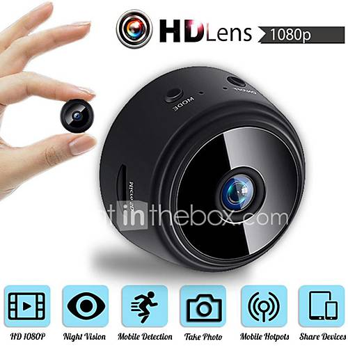 MINI Wireless Camera 32G TF Card HD APP 25fps P2P IP WIFI Camera 1080P Night Vision Motion Detection 2 mp Security IP Camera Indoor Support 64 GB / CMOS / 50 / 60 / iPhone OS / Android
