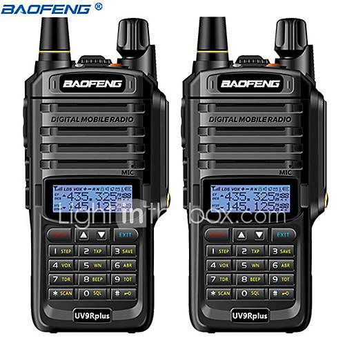 2pcs baofeng UV-9R plus 10KM 4800 mAh 10 W waterproof walkie talkie High power  two way radio VHF UHF portable radio walkie talkie uv9R plus