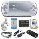 Sony PSP Slim Lite 2000 silver 4GB Memory Card + 5 Accessories Free Shipping BY5