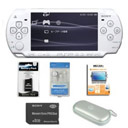 Sony PSP Slim 2000 White + 8GB Card (10 Games + 300games) + 4Accessories + Free Shipping JP19
