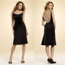 Empire Line Knee Length Bridesmaids / Prom / Little Black Dress (HSX192)