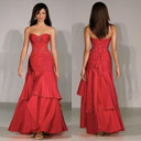 Stunning Strapless Maxi Evening Dress / Prom Dress (HSX814)